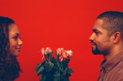 black-man-flowers